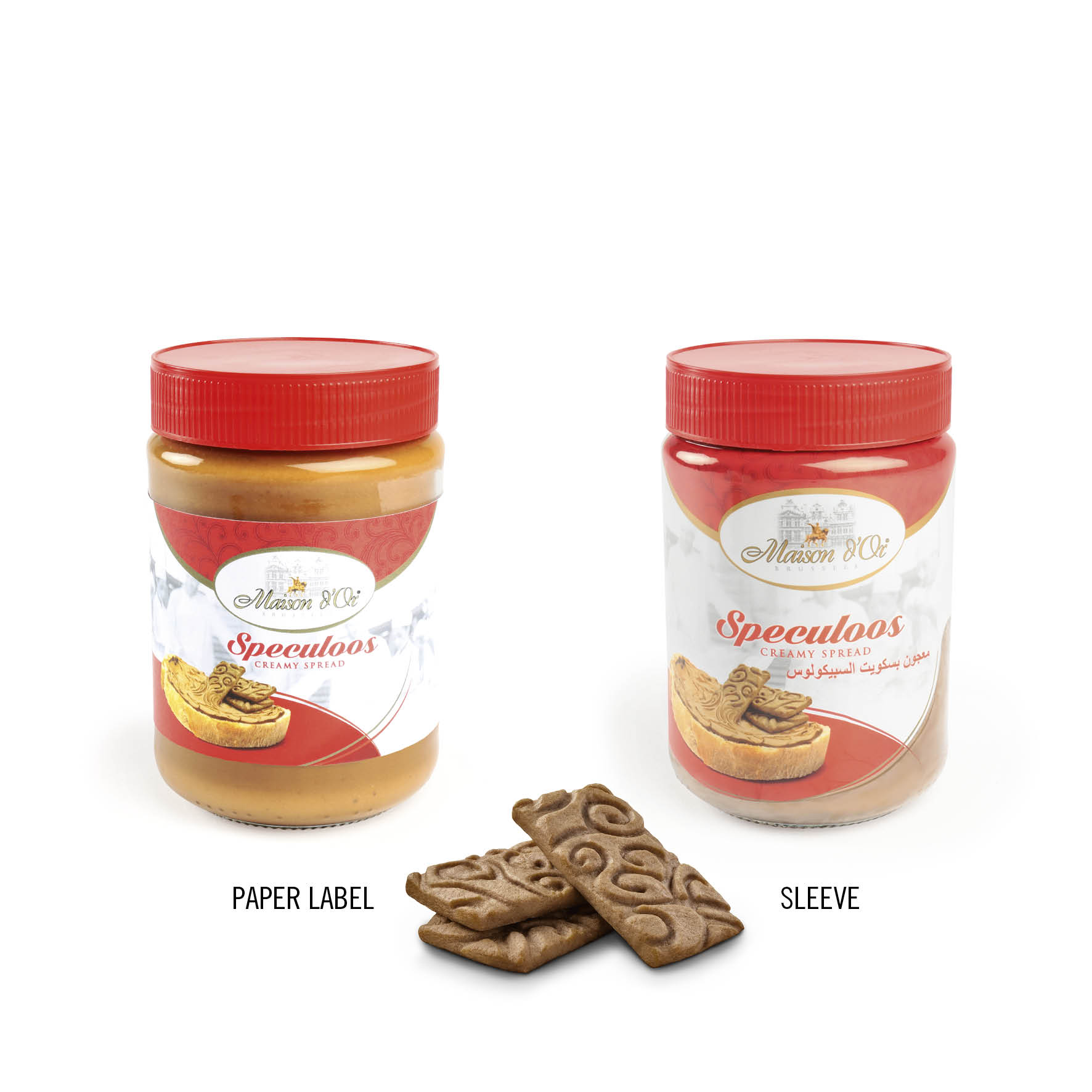 Lion Products Maison D'Or Balc Biscuits à la carte Speculoos Sleeve Foil Single pack Sleeve 150g Sleeve 300g Bulk sleeve 250g Cinnamon Speculoos spices Caramel biscuit BRC IFS Belgium's finest recipe Bonheiden Czech Republic Container transport export Worldwide Truck transport Speculoos powder Speculoos crumble Private label Brand Sticker Label Create own design Spread Speculoos spread Pistachio Creamy Crunchy Nerro Jar Paper label 400g spread 200g spread Cookie powder Buckets 5kg bucket 20kg bucket 250g spread Tuiles Assorted chocolate biscuit rolls chocolate Filled biscuit rolls hazelnuts Les Briques Mini tablet Food service Assortment Biscuit cookie